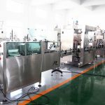 خط الإنتاج الأوتوماتيكي لملء زجاجة آلات تعبئة حشو لمادة 70 ٪ من المطهر الكحولي والشامبو وجل الاستحمام والسائل