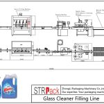 خط تعبئة منظف الزجاج الأوتوماتيكي