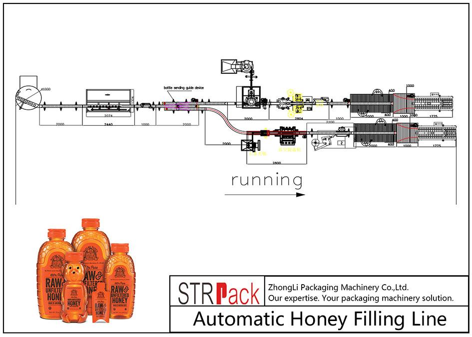 خط تعبئة العسل الأوتوماتيكي