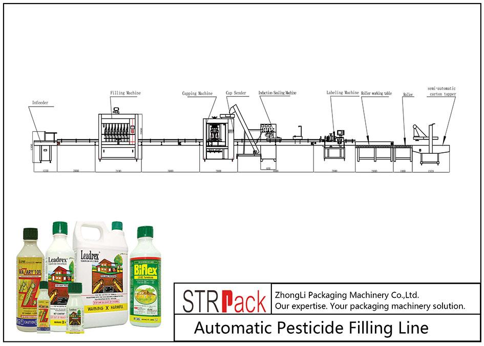 خط تعبئة المبيدات الأوتوماتيكي