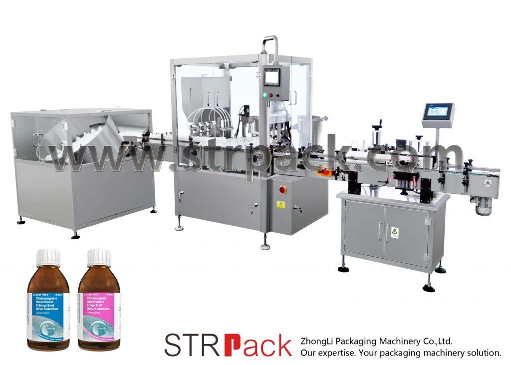 آلة تعبئة وتغطية شراب السائل عن طريق الفم