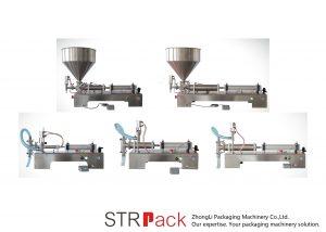 آلة ملء السائل شبه التلقائي المكبس